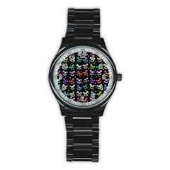 Toys pattern Stainless Steel Round Watch