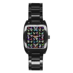 Toys pattern Stainless Steel Barrel Watch