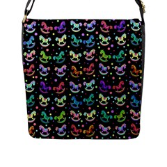 Toys pattern Flap Messenger Bag (L)
