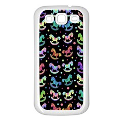 Toys pattern Samsung Galaxy S3 Back Case (White)