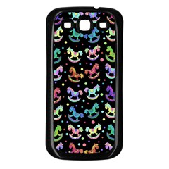 Toys pattern Samsung Galaxy S3 Back Case (Black)