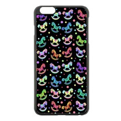Toys pattern Apple iPhone 6 Plus/6S Plus Black Enamel Case