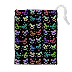 Toys pattern Drawstring Pouches (Extra Large)