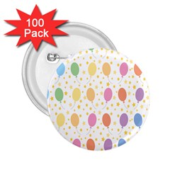 Balloon Star Rainbow 2 25  Buttons (100 Pack)  by Mariart