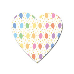 Balloon Star Rainbow Heart Magnet by Mariart