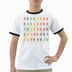 Balloon Star Rainbow Ringer T Shirts by Mariart