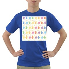 Balloon Star Rainbow Dark T-shirt by Mariart