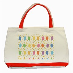Balloon Star Rainbow Classic Tote Bag (red) by Mariart