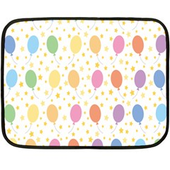 Balloon Star Rainbow Double Sided Fleece Blanket (mini)  by Mariart