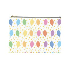 Balloon Star Rainbow Cosmetic Bag (large)  by Mariart