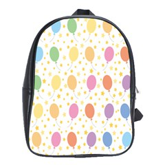 Balloon Star Rainbow School Bags(large)  by Mariart