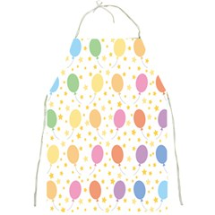 Balloon Star Rainbow Full Print Aprons by Mariart