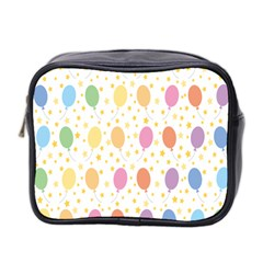Balloon Star Rainbow Mini Toiletries Bag 2 Side by Mariart
