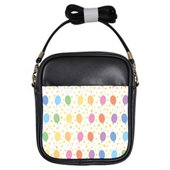 Balloon Star Rainbow Girls Sling Bags by Mariart