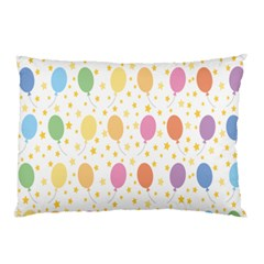 Balloon Star Rainbow Pillow Case (two Sides) by Mariart