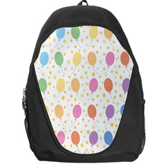 Balloon Star Rainbow Backpack Bag by Mariart