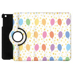 Balloon Star Rainbow Apple Ipad Mini Flip 360 Case by Mariart
