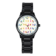 Balloon Star Rainbow Stainless Steel Round Watch by Mariart