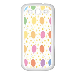 Balloon Star Rainbow Samsung Galaxy S3 Back Case (white) by Mariart
