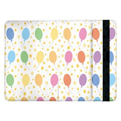 Balloon Star Rainbow Samsung Galaxy Tab Pro 12 2  Flip Case by Mariart