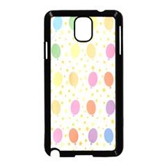 Balloon Star Rainbow Samsung Galaxy Note 3 Neo Hardshell Case (black) by Mariart