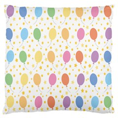 Balloon Star Rainbow Large Flano Cushion Case (two Sides)