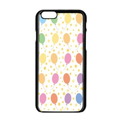 Balloon Star Rainbow Apple Iphone 6/6s Black Enamel Case by Mariart