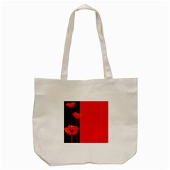 Flower Floral Red Back Sakura Tote Bag (cream) by Mariart