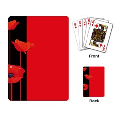 Flower Floral Red Back Sakura Playing Card by Mariart