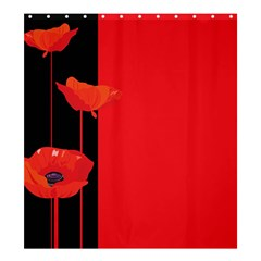 Flower Floral Red Back Sakura Shower Curtain 66  X 72  (large)  by Mariart