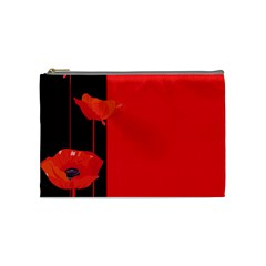 Flower Floral Red Back Sakura Cosmetic Bag (medium)  by Mariart