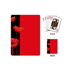 Flower Floral Red Back Sakura Playing Cards (mini)  by Mariart