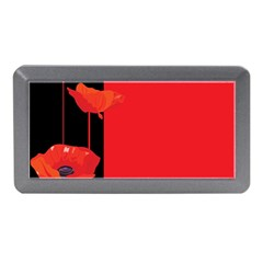 Flower Floral Red Back Sakura Memory Card Reader (mini) by Mariart