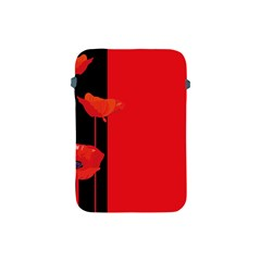 Flower Floral Red Back Sakura Apple Ipad Mini Protective Soft Cases by Mariart