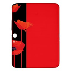 Flower Floral Red Back Sakura Samsung Galaxy Tab 3 (10 1 ) P5200 Hardshell Case