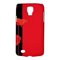 Flower Floral Red Back Sakura Galaxy S4 Active by Mariart