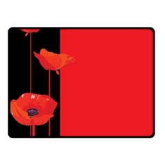 Flower Floral Red Back Sakura Double Sided Fleece Blanket (small)  by Mariart