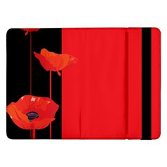 Flower Floral Red Back Sakura Samsung Galaxy Tab Pro 12 2  Flip Case by Mariart
