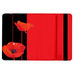 Flower Floral Red Back Sakura Ipad Air Flip by Mariart