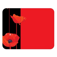 Flower Floral Red Back Sakura Double Sided Flano Blanket (large)  by Mariart