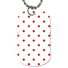 Flower Floral Polka Dot Orange Dog Tag (two Sides) by Mariart
