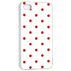 Flower Floral Polka Dot Orange Apple Iphone 4/4s Seamless Case (white) by Mariart