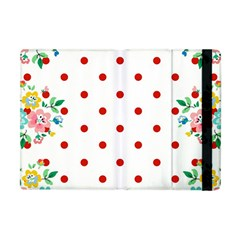 Flower Floral Polka Dot Orange Apple Ipad Mini Flip Case by Mariart