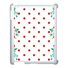 Flower Floral Polka Dot Orange Apple Ipad 3/4 Case (white) by Mariart