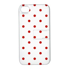 Flower Floral Polka Dot Orange Apple Iphone 4/4s Hardshell Case With Stand by Mariart