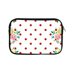 Flower Floral Polka Dot Orange Apple Ipad Mini Zipper Cases by Mariart