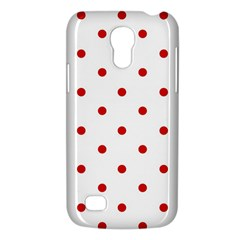 Flower Floral Polka Dot Orange Galaxy S4 Mini by Mariart