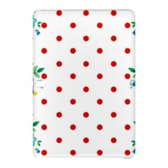 Flower Floral Polka Dot Orange Samsung Galaxy Tab Pro 10 1 Hardshell Case