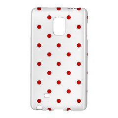 Flower Floral Polka Dot Orange Galaxy Note Edge by Mariart