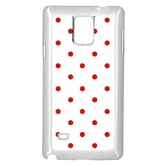 Flower Floral Polka Dot Orange Samsung Galaxy Note 4 Case (white) by Mariart